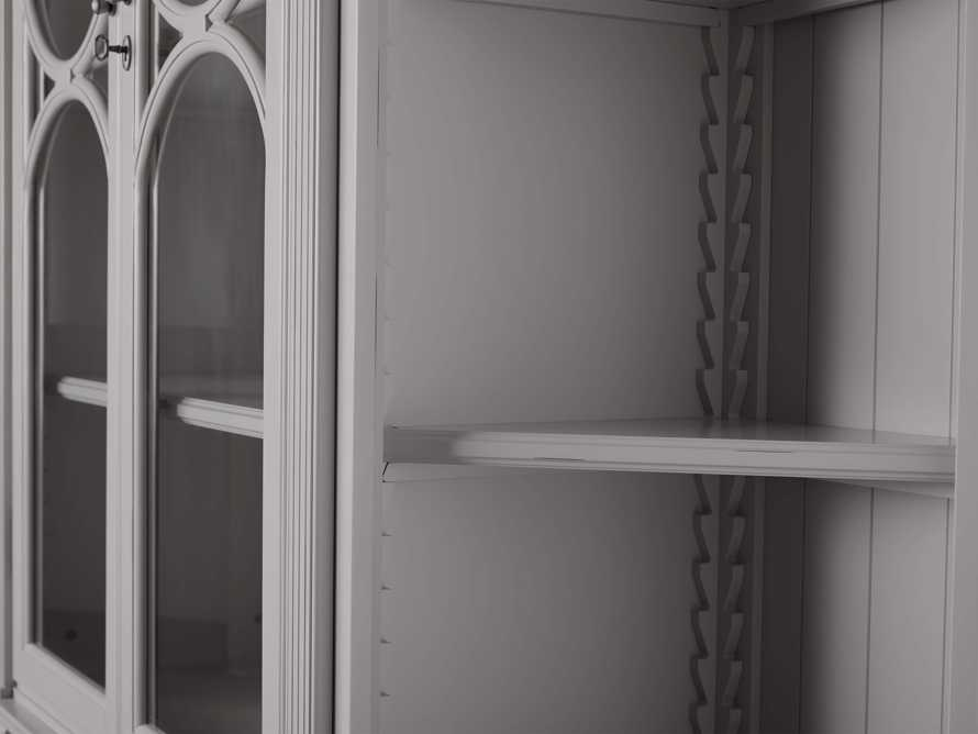 Athens Modular Double Display Cabinet with Angled Bookcases in Stratus, slide 6 of 10