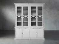 Athens Modular Double Display Cabinet in Nimbus