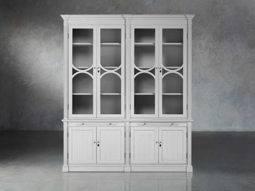 Athens Modular Double Display Cabinet in Nimbus, slide 1 of 6