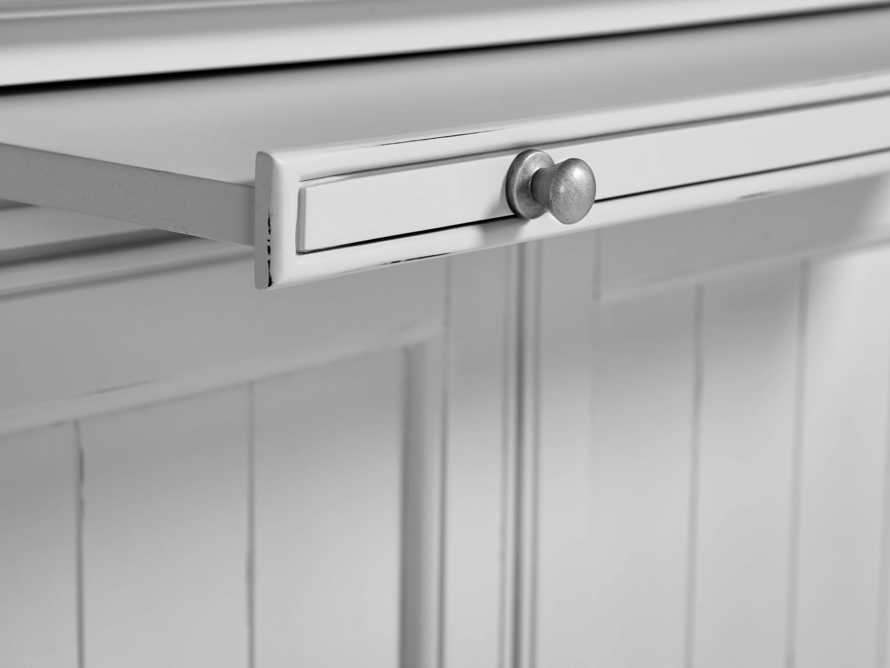 Athens Modular Double Display Cabinet in Nimbus, slide 5 of 6