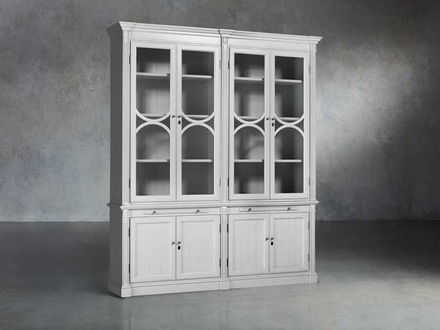 Athens Modular Double Display Cabinet in Nimbus, slide 2 of 6