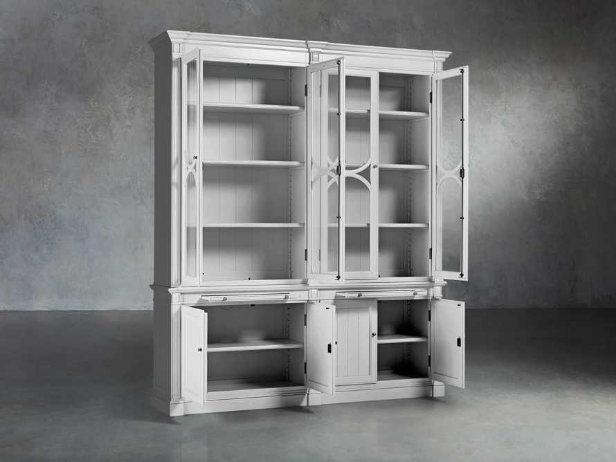 Athens Modular Double Display Cabinet in Nimbus, slide 3 of 6