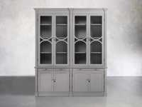 Athens Modular Double Display Cabinet in Stratus