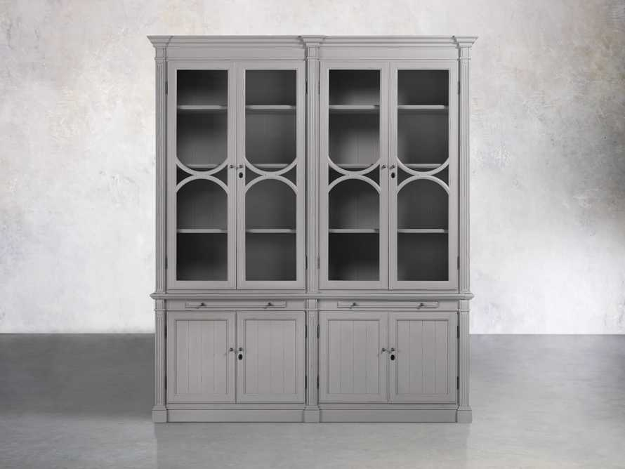 Athens Modular Double Display Cabinet in Stratus, slide 1 of 4