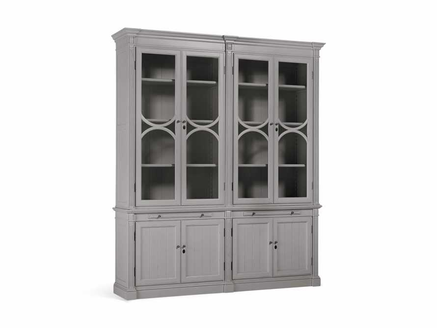 Athens Modular Double Display Cabinet in Stratus, slide 3 of 4