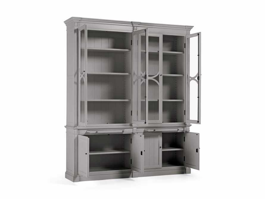 Athens Modular Double Display Cabinet in Stratus, slide 4 of 4