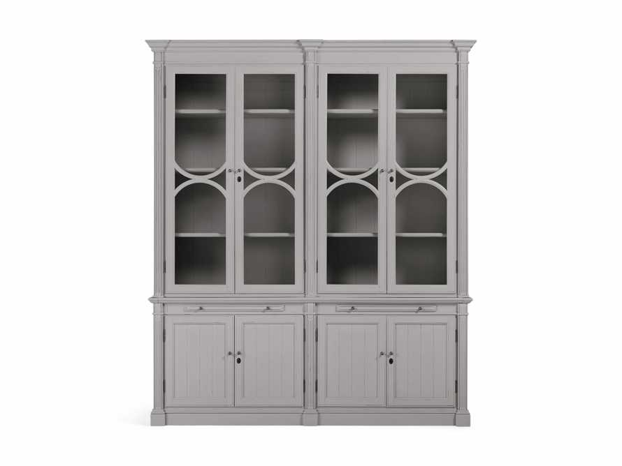 Athens Modular Double Display Cabinet in Stratus, slide 2 of 4
