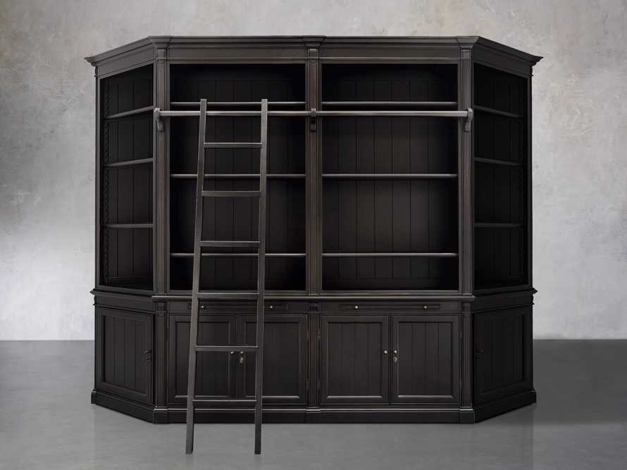 Athens Modular Library with Angled Bookcases in Tuxedo Black