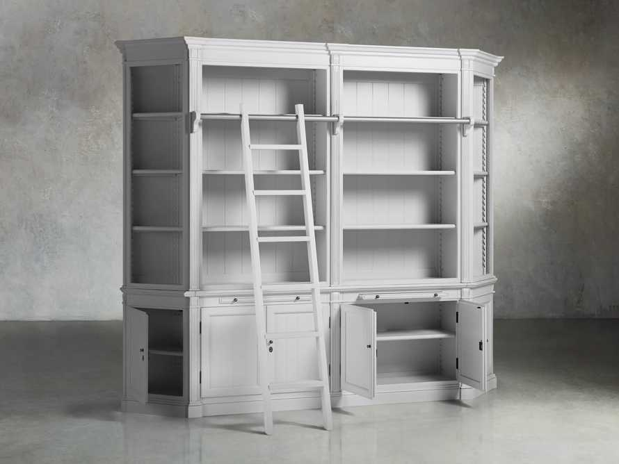 Athens Modular Library with Angled Bookcases in Nimbus, slide 3 of 6