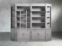 Athens Modular Library with Angled Bookcases in Stratus