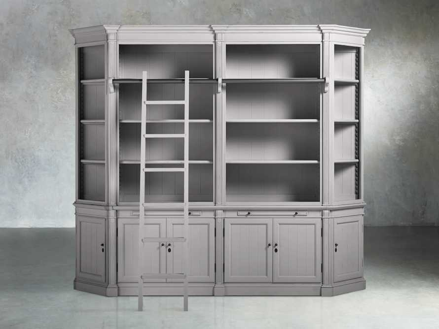 Athens Modular Library with Angled Bookcases in Stratus, slide 1 of 4