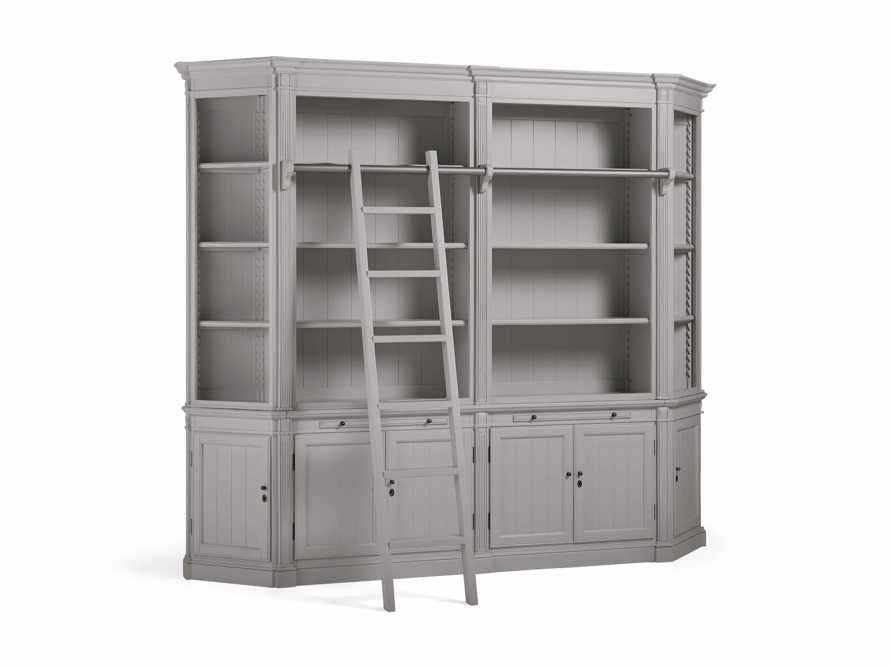 Athens Modular Library with Angled Bookcases in Stratus, slide 3 of 4