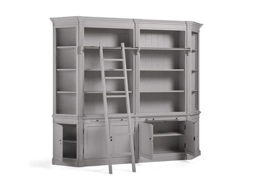 Athens Modular Library with Angled Bookcases in Stratus, slide 4 of 4