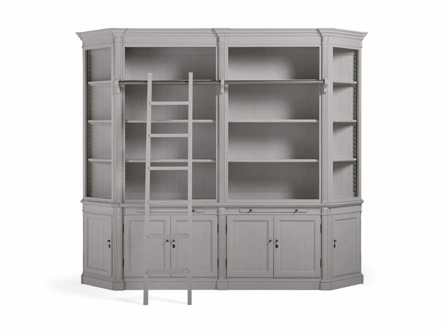 Athens Modular Library with Angled Bookcases in Stratus, slide 2 of 4