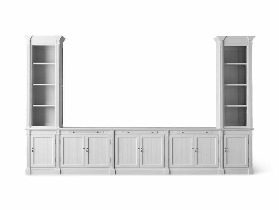 Athens Modular Large Media Console with Double Narrow Bookcases, slide 7 of 8