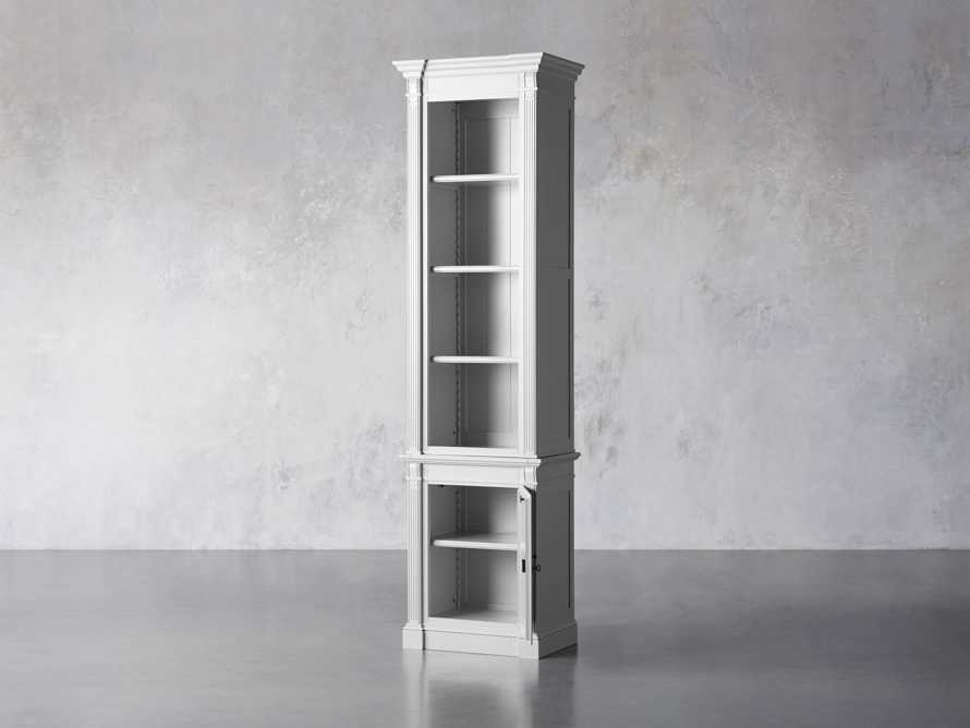 Athens Modular Narrow Bookcase in Nimbus, slide 3 of 5