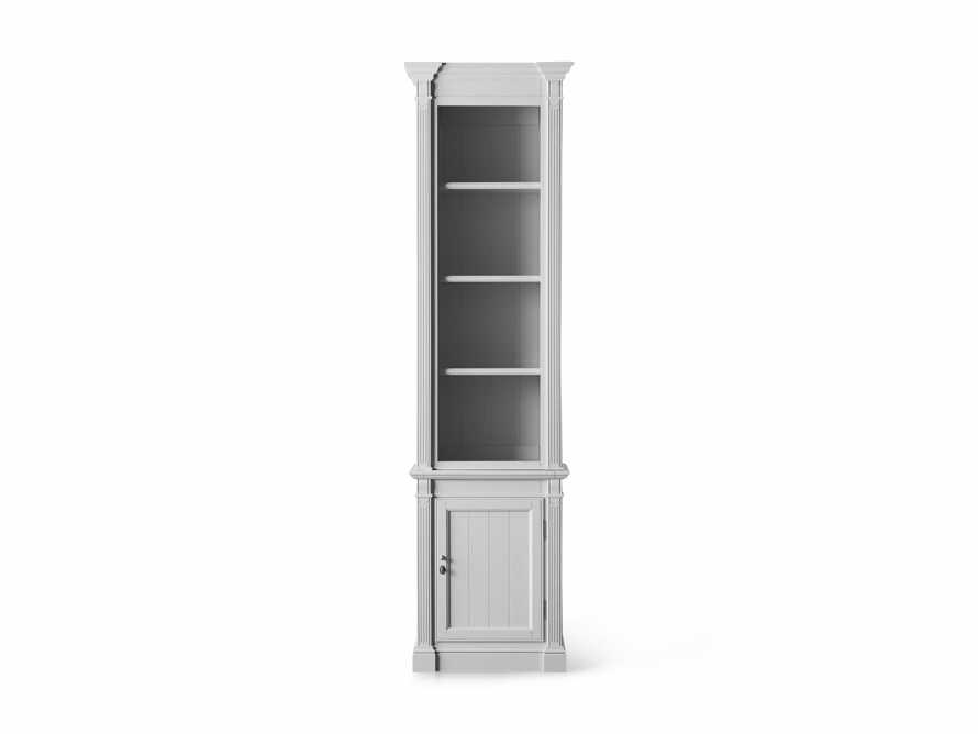 Athens Modular Narrow Bookcase in Nimbus, slide 4 of 5