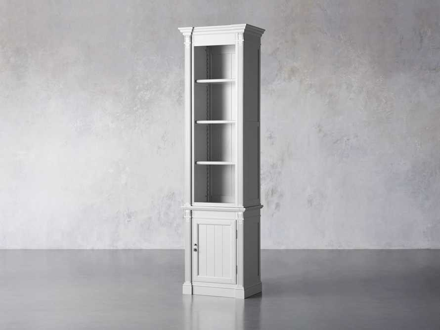 Athens Modular Narrow Bookcase in Nimbus, slide 2 of 5