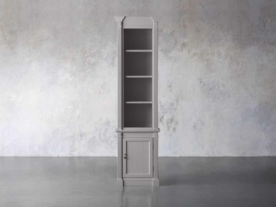 Athens Modular Narrow Bookcase in Stratus, slide 1 of 5