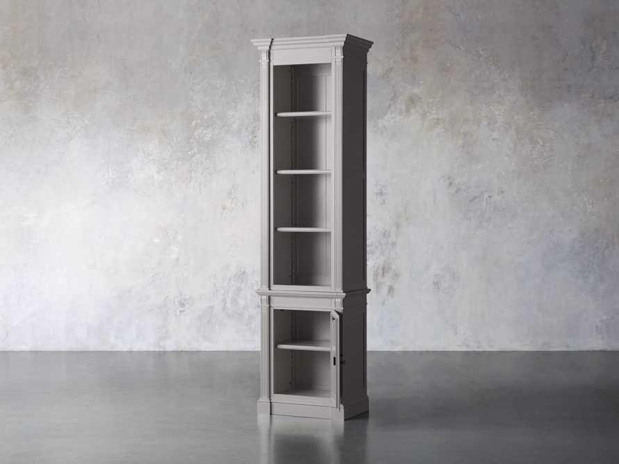 Athens Modular Narrow Bookcase in Stratus, slide 3 of 5