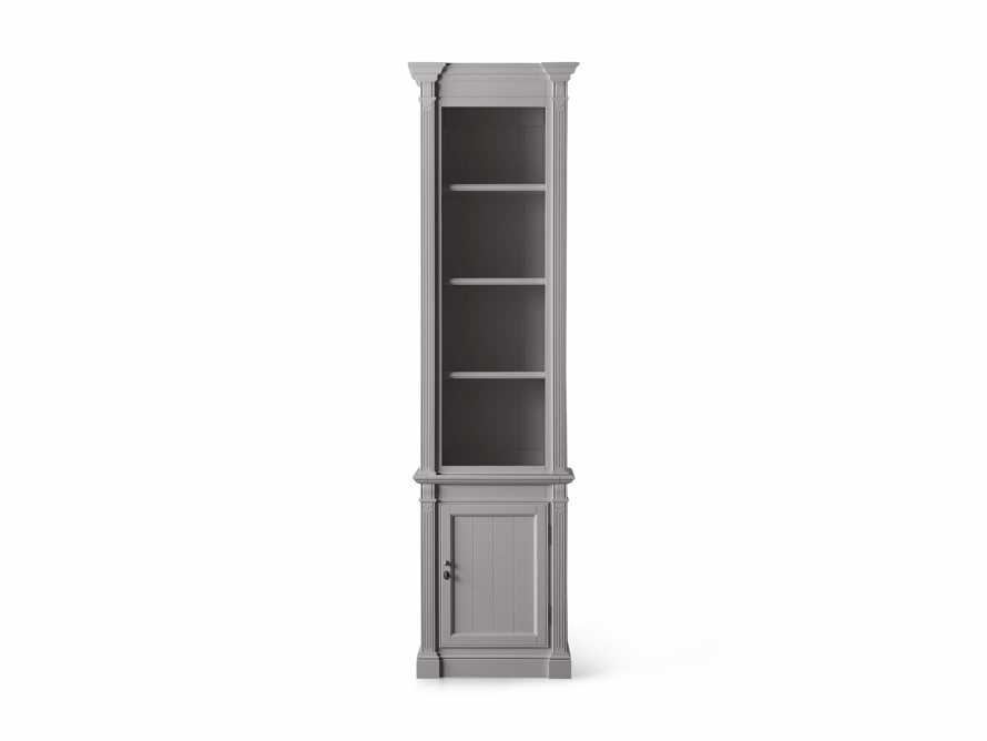 Athens Modular Narrow Bookcase in Stratus, slide 4 of 5