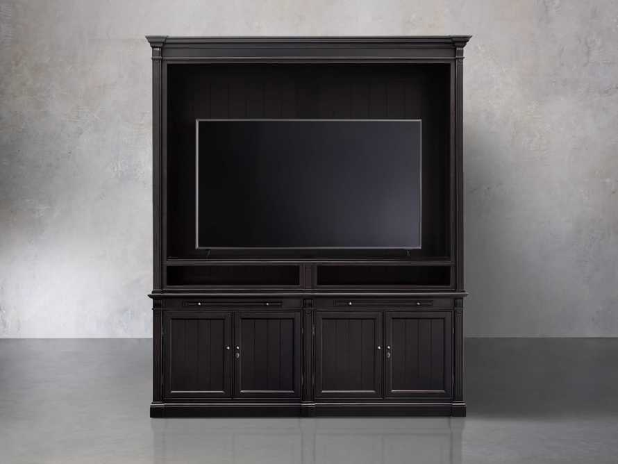 Athens Modular Media Cabinet in Tuxedo Black, slide 2 of 3