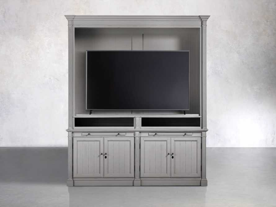 Athens Modular Media Cabinet in Stratus, slide 5 of 5