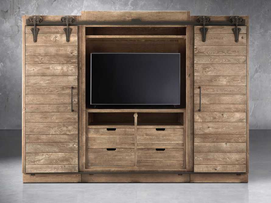 "Baumann 112"" Media Wall Unit in Ashland Natural"