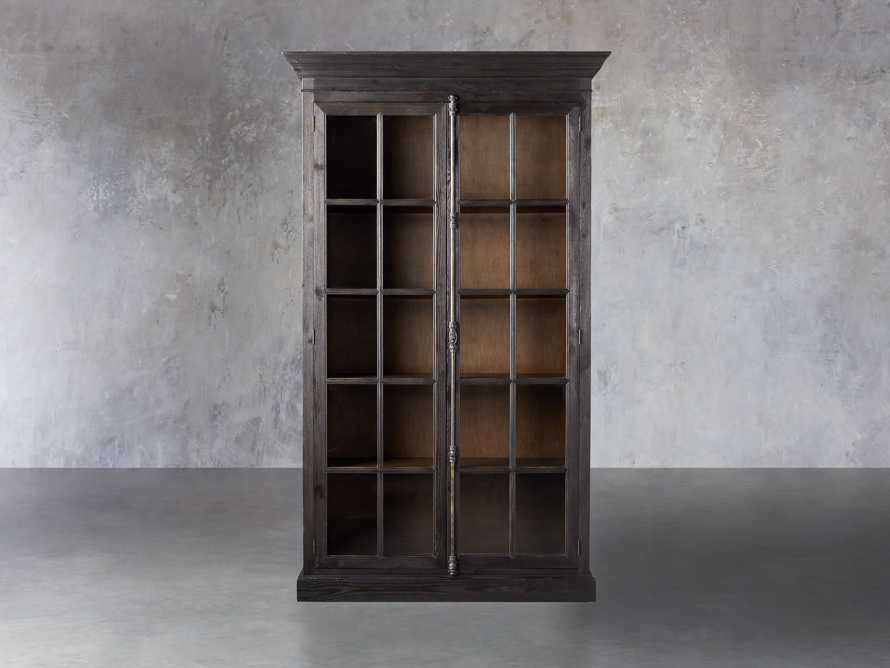 "Chorus Theory 54"" Cabinet With Glass Doors in Ebony, slide 1 of 4"