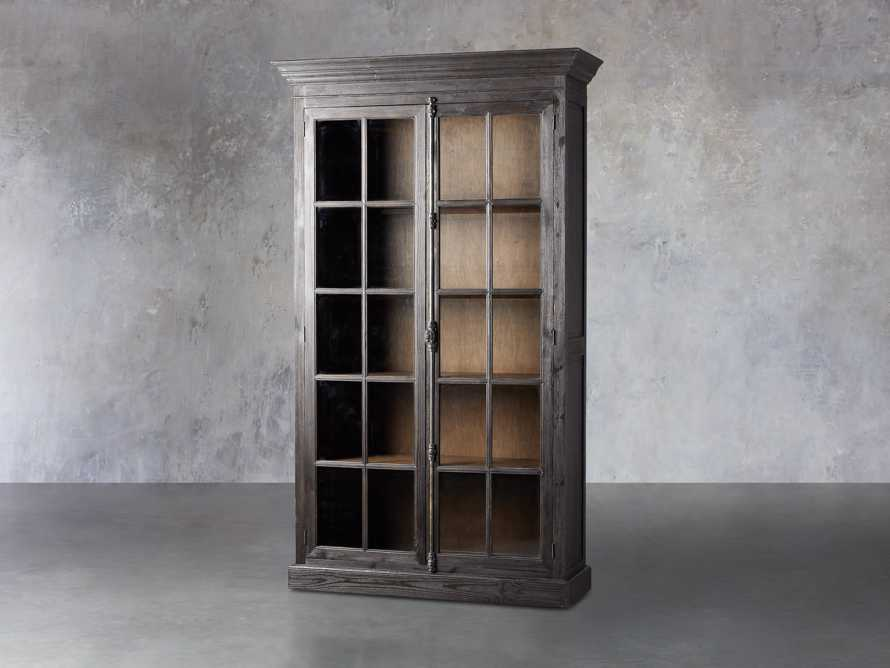 "Chorus Theory 54"" Cabinet With Glass Doors in Ebony, slide 2 of 4"