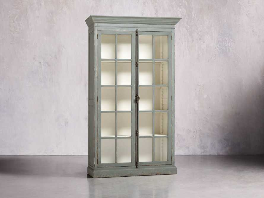 "Chorus Theory 54"" Cabinet with Glass Doors in Rustic Blue"