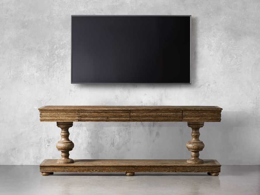 """Chorus Theory 95"""" Media Console in Benedict Brown, slide 6 of 12"""