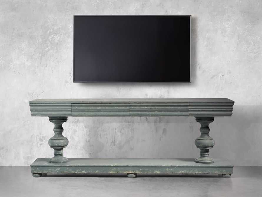 Chorus Theory Media Console in Rustic Blue, slide 6 of 9