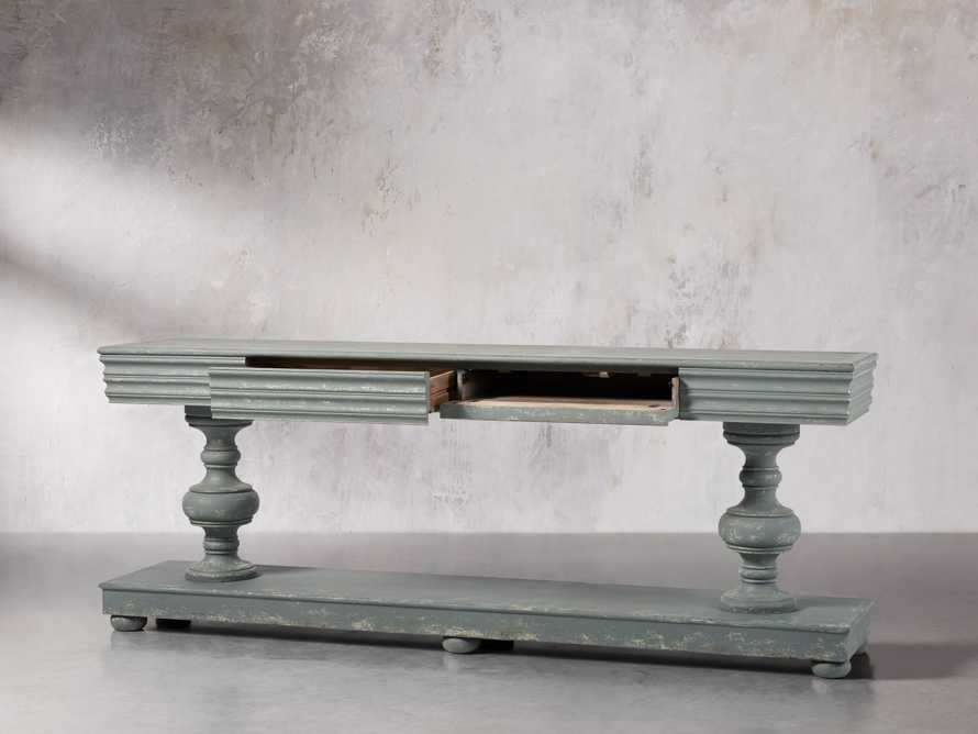 Chorus Theory Media Console in Rustic Blue