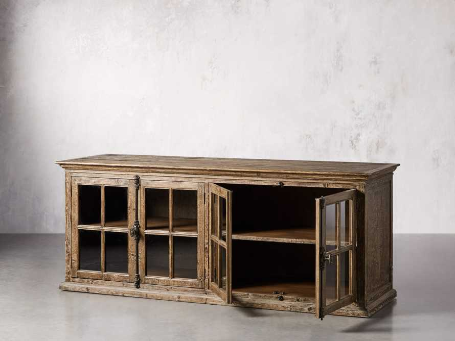 """Chorus Theory 80"""" Media Console in Benedict Brown, slide 3 of 9"""