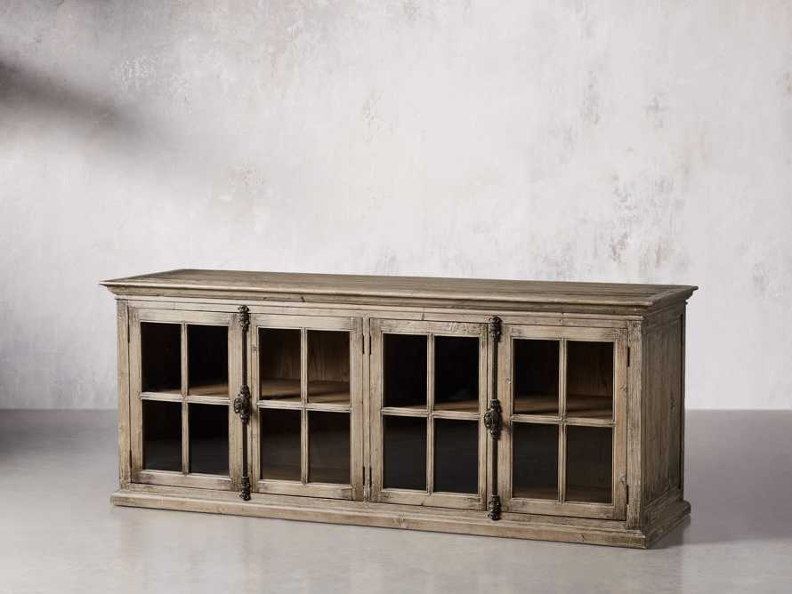 """Chorus Theory 80"""" Media Console in Earl Grey, slide 2 of 9"""