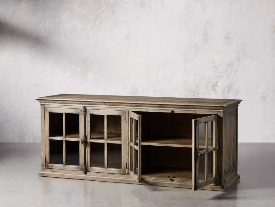 """Chorus Theory 80"""" Media Console in Earl Grey, slide 3 of 9"""