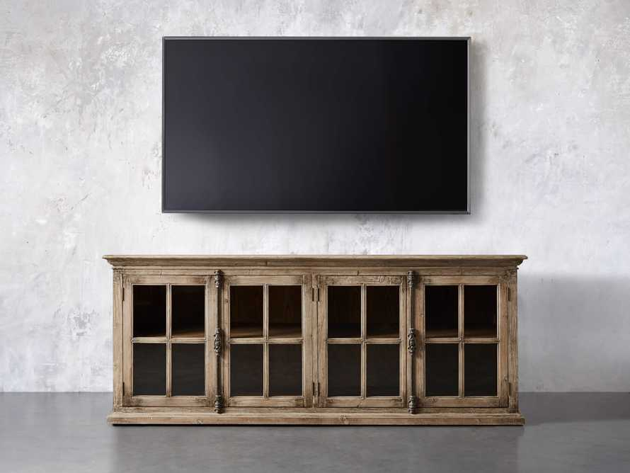 """Chorus Theory 80"""" Media Console in Earl Grey, slide 5 of 9"""
