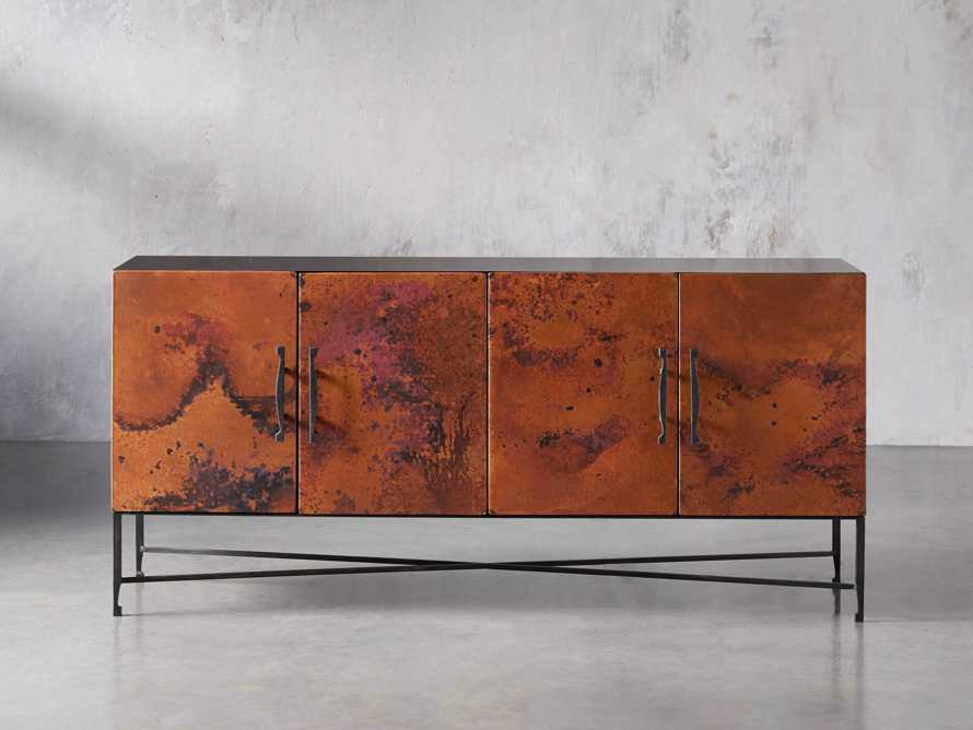 "Cahlo 69"" Copper Media Console, slide 1 of 9"