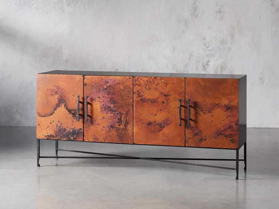 "Cahlo 69"" Copper Media Console, slide 2 of 9"