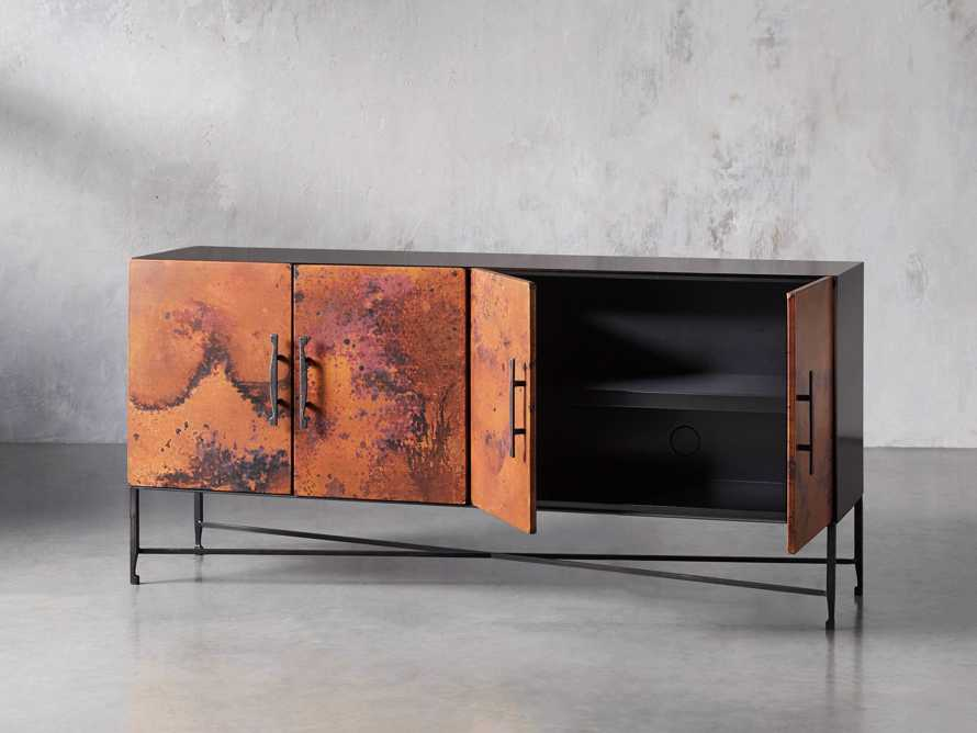 "Cahlo 69"" Copper Media Console, slide 3 of 9"