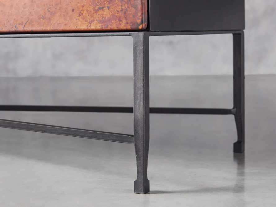 "Cahlo 69"" Copper Media Console, slide 6 of 9"