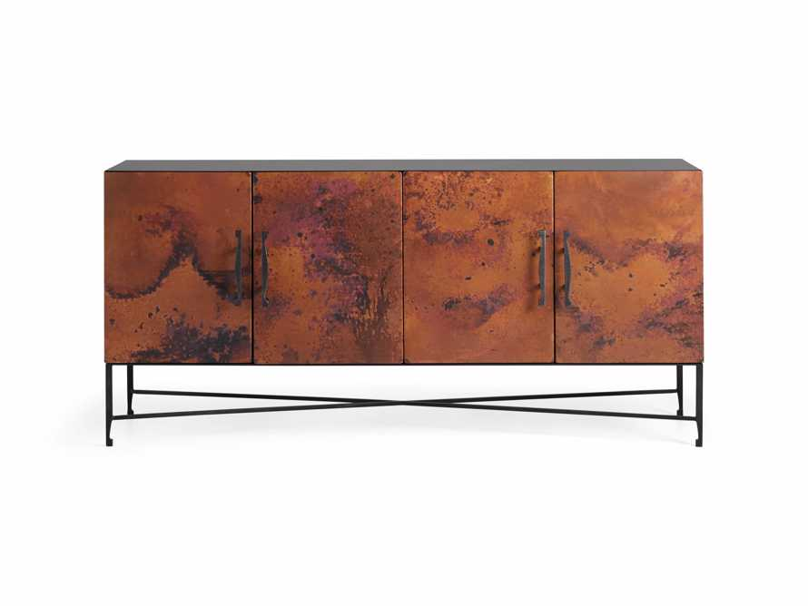 "Cahlo 69"" Copper Media Console, slide 8 of 9"