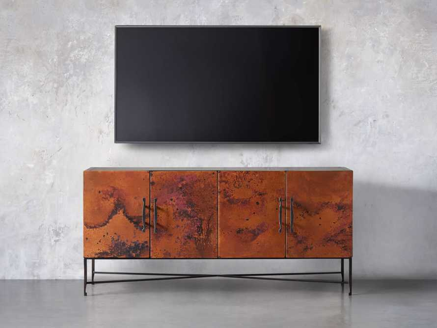 "Cahlo 69"" Copper Media Console, slide 5 of 9"