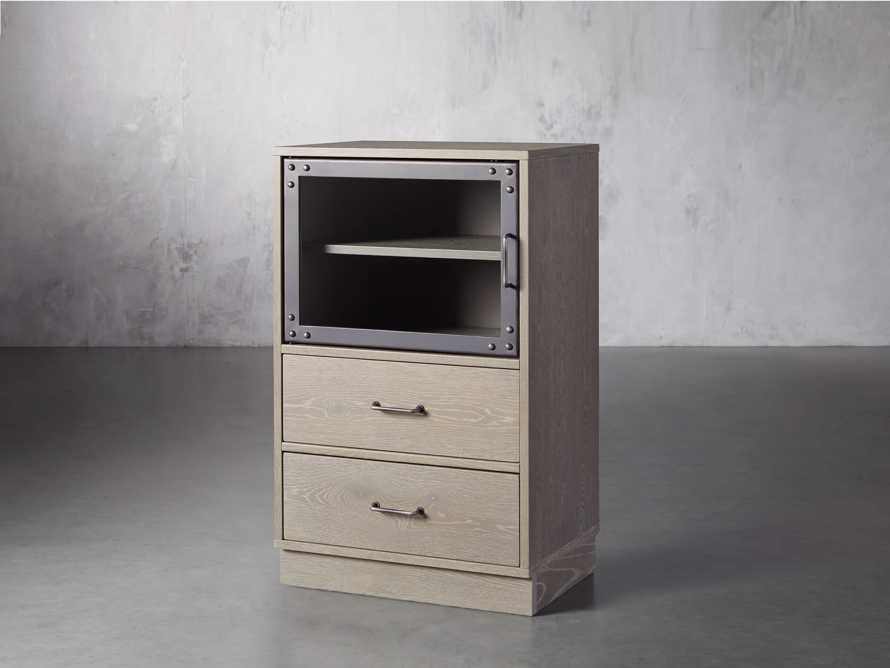 Curiosity Modular 2 Cubby Cabinet in Pebble Grey, slide 2 of 5