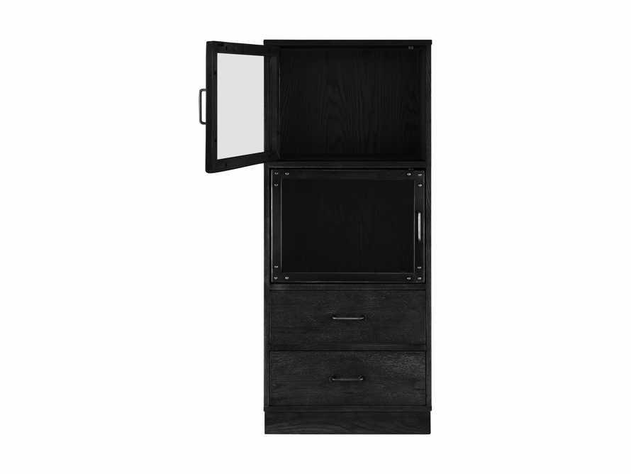 Curiosity Modular 3 Cubby Cabinet in Black, slide 4 of 8