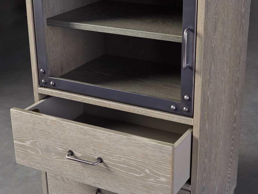 Curiosity Modular 3 Cubby Cabinet in Pebble Grey, slide 3 of 6