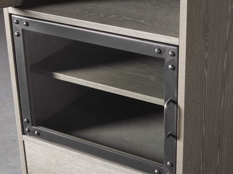 Curiosity Modular 4 Cubby Cabinet in Pebble Grey, slide 3 of 5