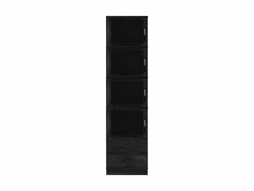 Curiosity Modular 5 Cubby Cabinet in Black