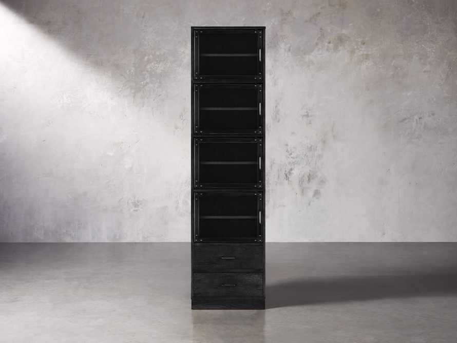 Curiosity Modular 5 Cubby Cabinet in Black, slide 1 of 5